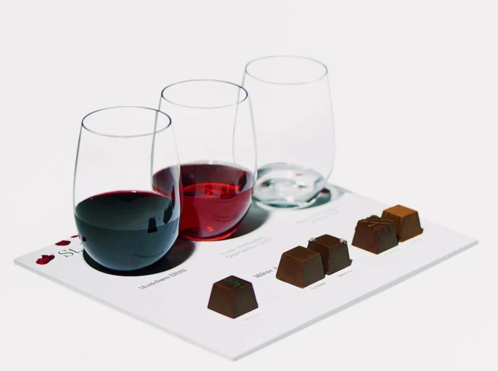 Truffles by this month's Music & Wine Tasting Club partner, Milène Jardin.