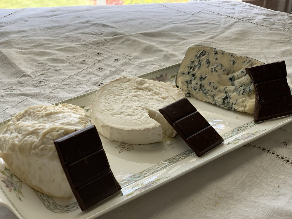 Cheese and chocolate pairings for virtual events