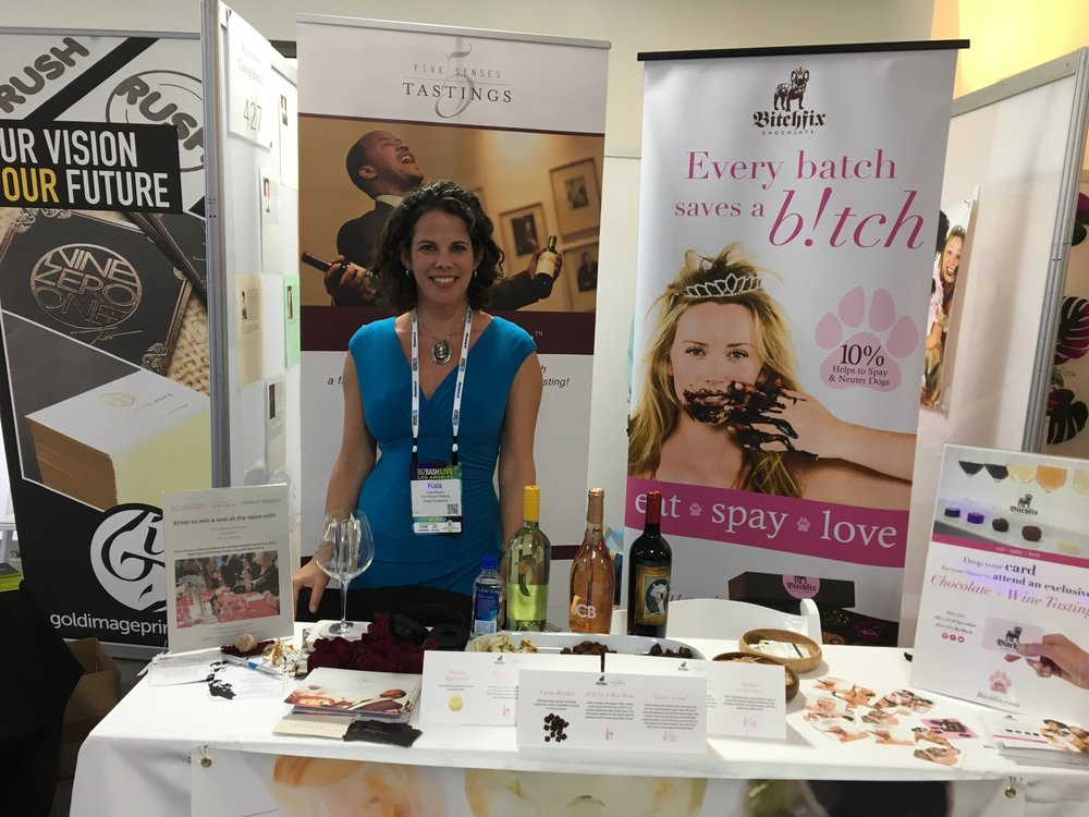 Sharing a booth with our friends at  Bitchfix  at the BizBash LA Expo.